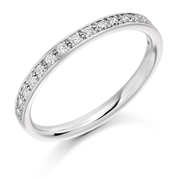 Raphael 18ct White Gold Diamond Claw-set 0.25ct Eternity Ring