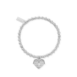 ChloBo Sterling Silver Didi Sparkle Heavenly Heart Bracelet