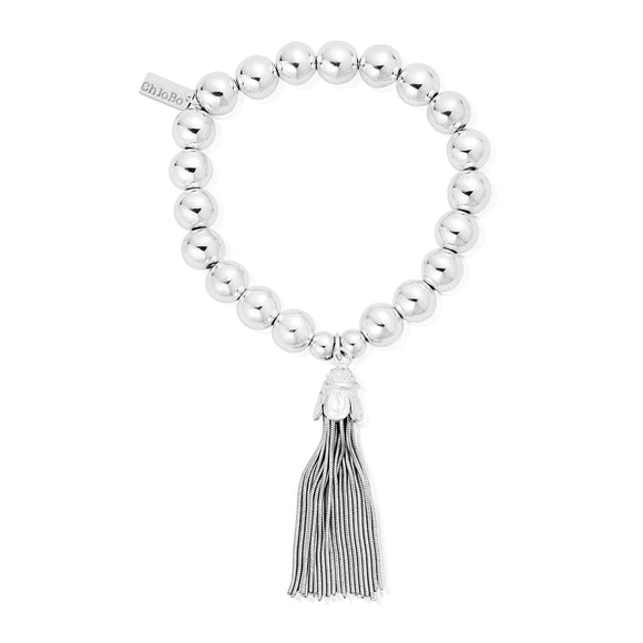 ChloBo Sterling Silver Medium Ball Tassel Bracelet