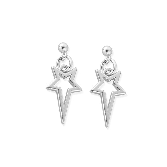 ChloBo Sterling Silver North Star Drop Earrings