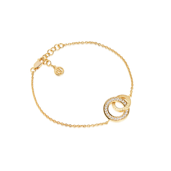 SIF JAKOBS BRACELET PRATO UNO PICCOLO - 18K GOLD PLATED WITH WHITE ZIRCONIA