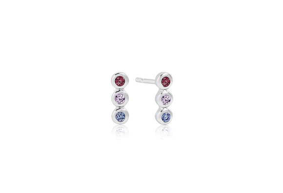 SIF JAKOBS EARRINGS SARDINIEN TRE PICCOLO WITH MULTICOLOURED ZIRCONIA