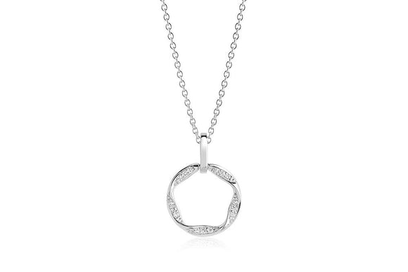 SIF JAKOBS PENDANT CETARA PICCOLO WITH WHITE ZIRCONIA