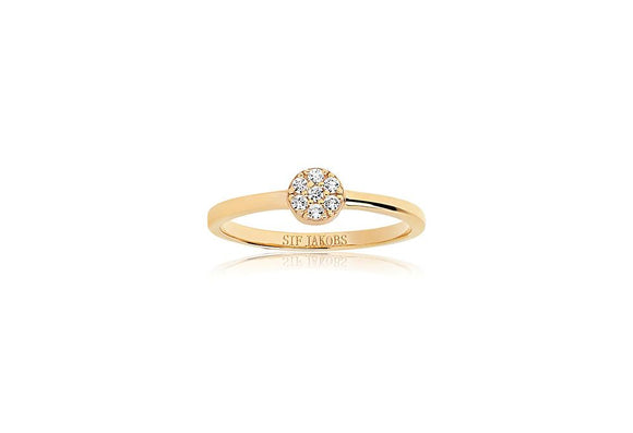 SIF JAKOBS RING CECINA - 18K GOLD PLATED WITH WHITE ZIRCONIA