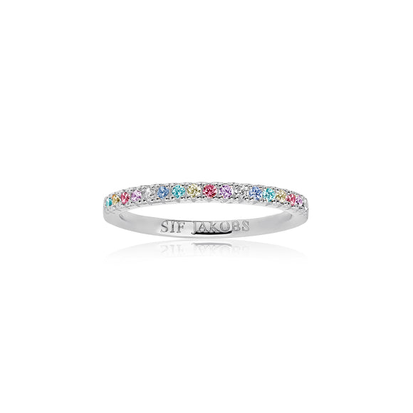 SIF JAKOBS RING ELLERA WITH MULTICOLOURED ZIRCONIA
