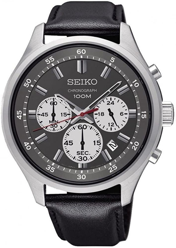 SEIKO QUARTZ CHRONOGRAPH GENTS  STRAP WATCH