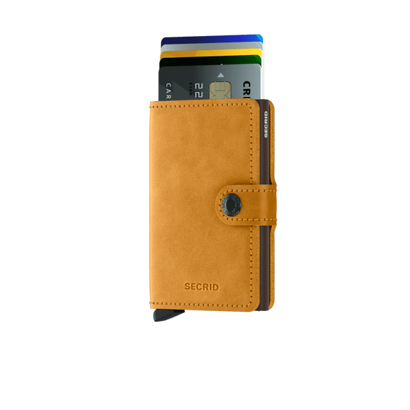 Secrid Miniwallet Vintage Ochre Leather