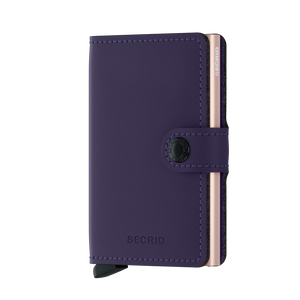 Secrid Miniwallet Matte Purple Rose Leather