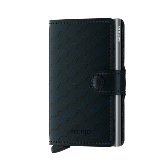 Secrid Miniwallet Optical Black-Titanium Leather