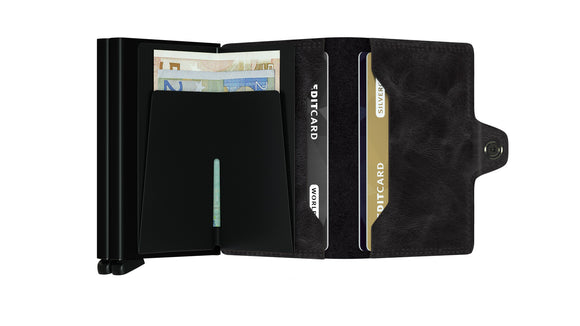 Secrid Twinwallet Vintage Black Leather