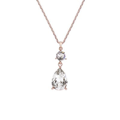 TED BAKER CANDIIS CRYSTAL CANDY DOUBLE DROP NECKLACE