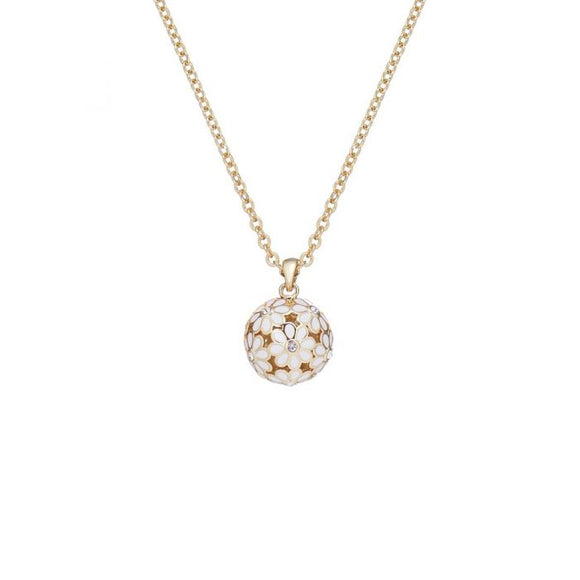 TED BAKER Daisy Ball Pendant Gold/White