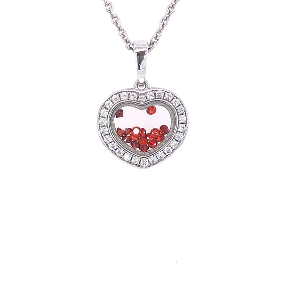 ASTRA Sterling Silver Bohemia Heart Pendant