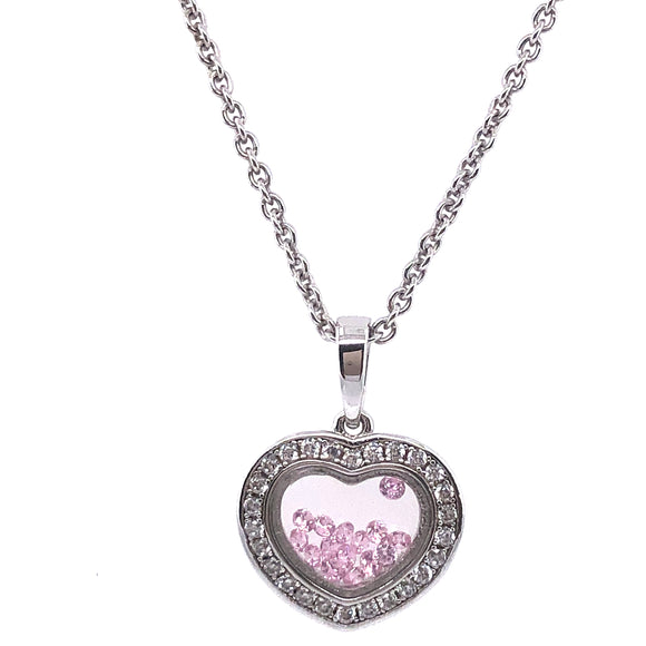 ASTRA Sterling Silver Romantic Pink Pendant