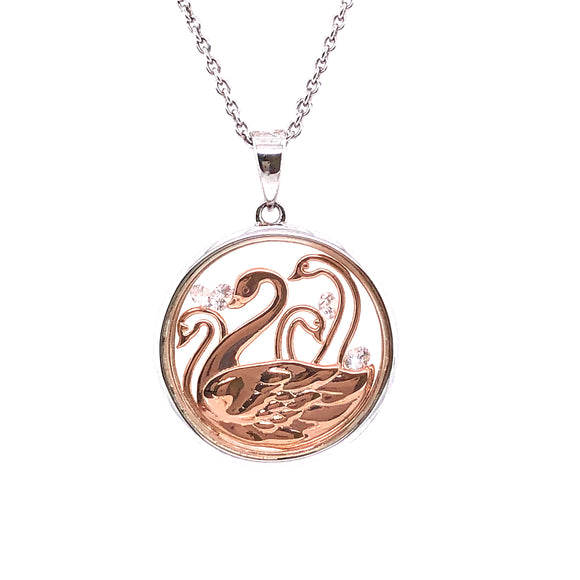 ASTRA Sterling Silver Children of Lir Pendant
