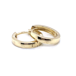 9ct Gold Small Polished Huggie Earrings