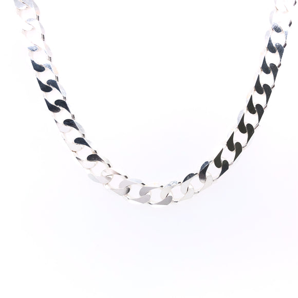 Sterling Silver Men's Solid 20 inch Curb Chain