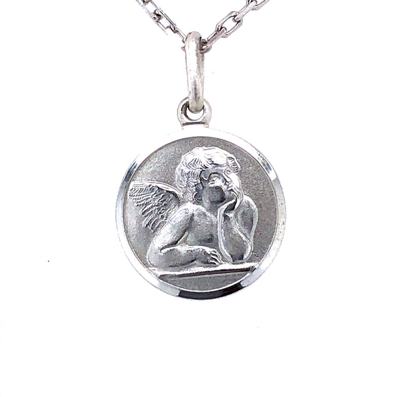 Silver Guardian Angel Pendant
