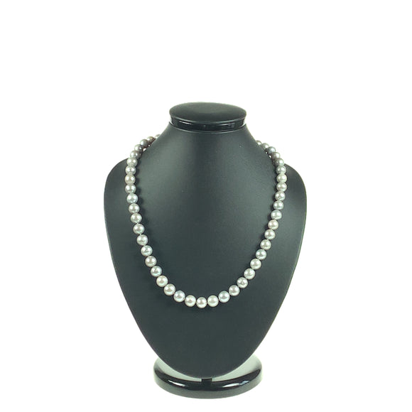 Silver-Grey Freshwater Cultured Pearl 9-10mm Necklace