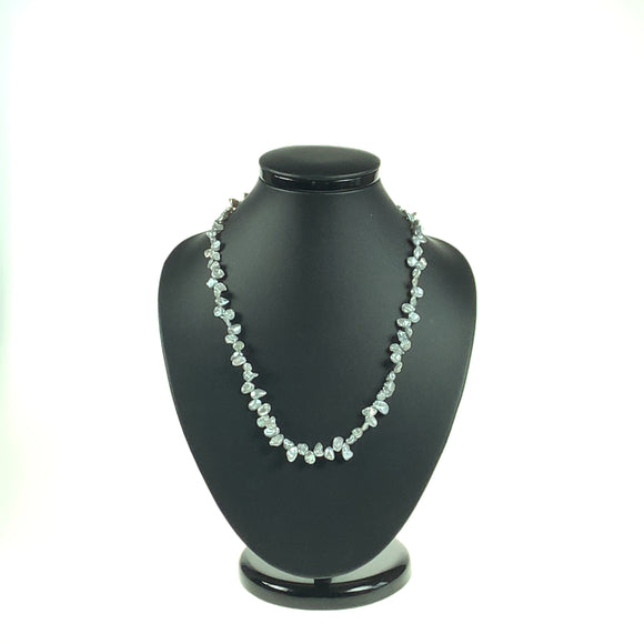 Silver-Grey Keshi Cultured Pearl Necklace