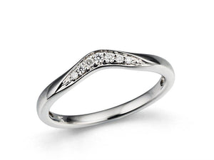 Diamond V-shaped  0.08ct Wedding Band