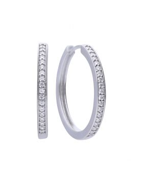 Diamonfire Zirconia Classic Hoop Earrings E5605