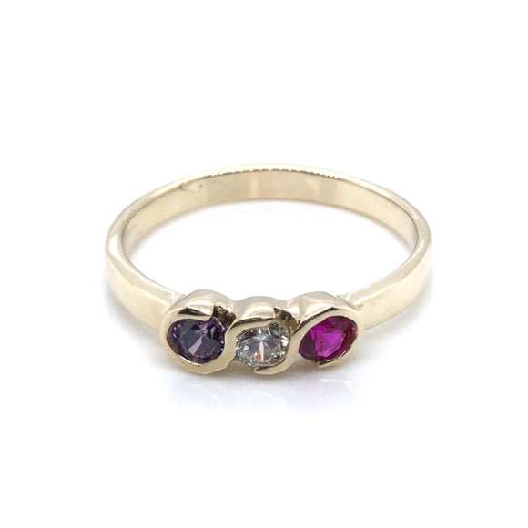 9ct Gold Family Birthstone Ring