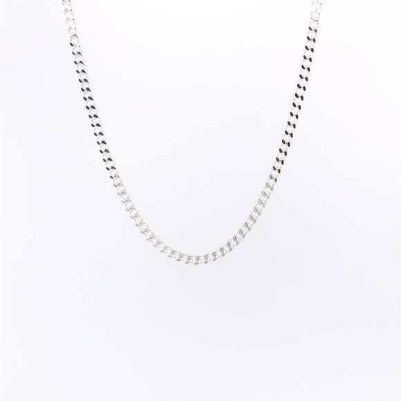 Sterling Silver Narrow 20 inch Curb Chain