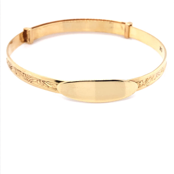 Rolled Gold Baby Bangle