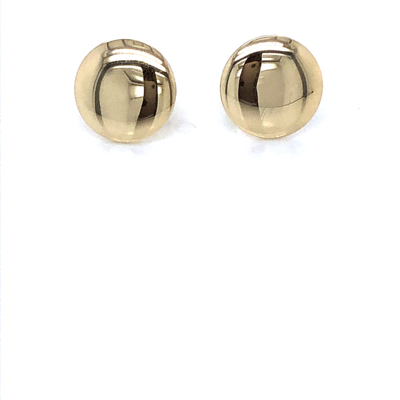9ct Gold 9mm Disc Earrings