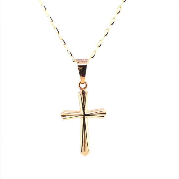 9ct Yellow Gold Small Tapered Cross