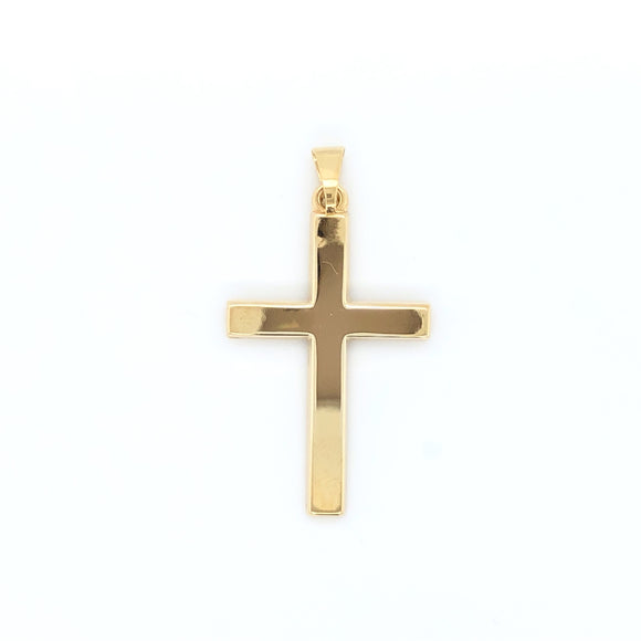9ct Yellow Gold  Large Polished Cross