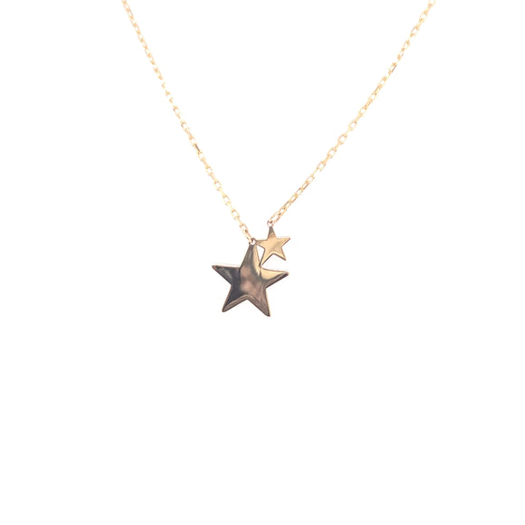 9ct Gold Double Star Pendant