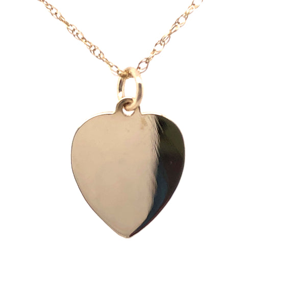 9ct Gold Heart Disc