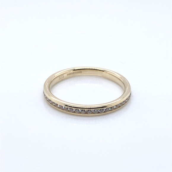 9ct Gold CZ Eternity Ring