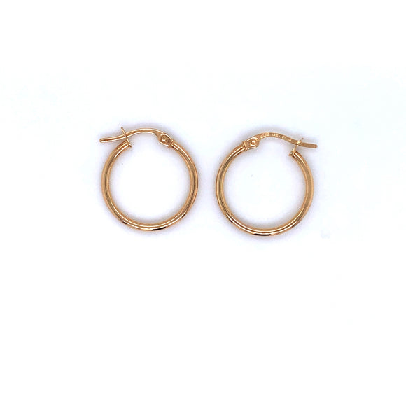9ct Gold Small Skinny Hoop Earrings