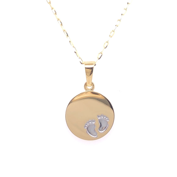 9ct Gold Baby Disc Disc Pendant