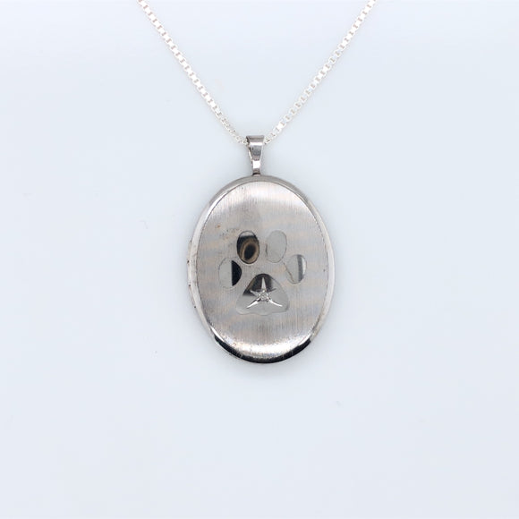 Sterling Silver Cute Dog Paw Locket