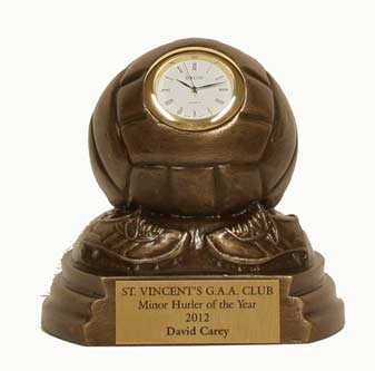 Bronze GAA Football Clock