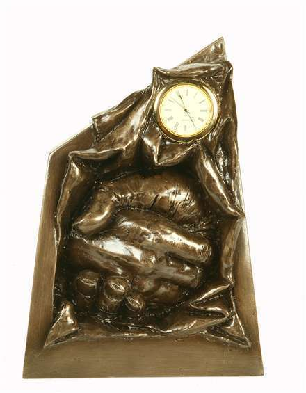 Bronze Hands Presentation Clock