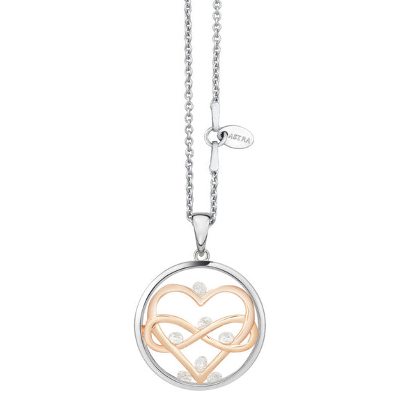 ASTRA Sterling Silver Love Everlasting Pendant