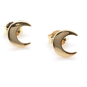 9ct Gold Crescent Moon Earrings