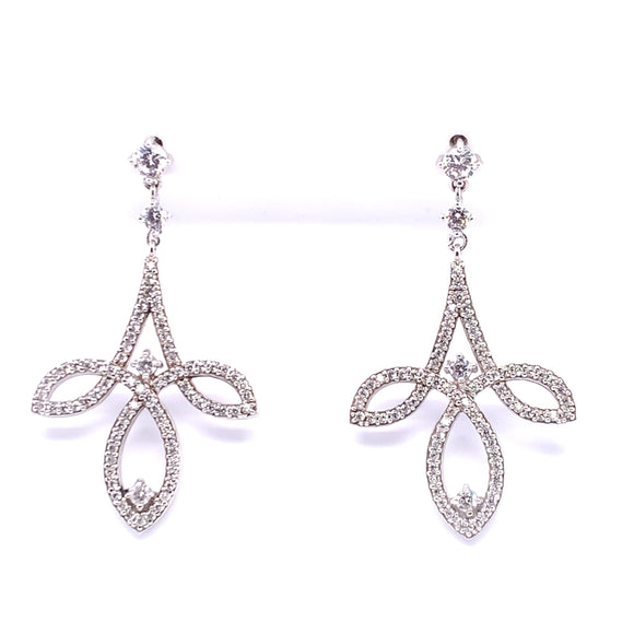 Diamonfire Zirconia Chandelier Earrings