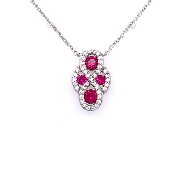 Diamonfire Ruby Zirconia Pendant
