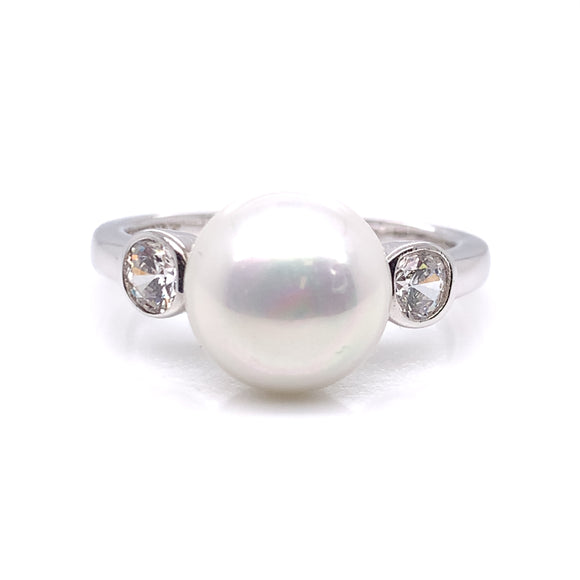 Diamonfire Pearl CZ Ring