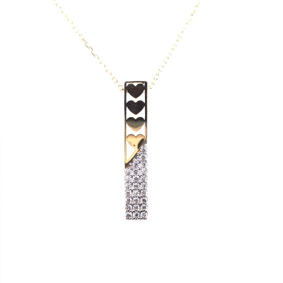 9ct Gold Falling for You CZ Pendant