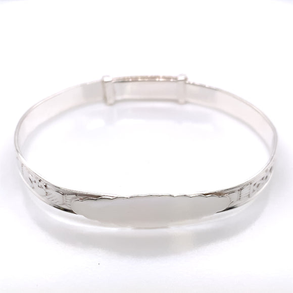 Silver Baby Bangle Claddagh & Celtic Band
