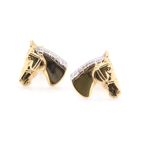 9ct Gold Horsehead Stud Earrings