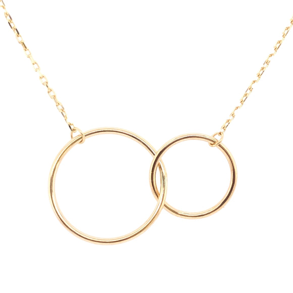 9ct Gold Interlocking Circles Pendant