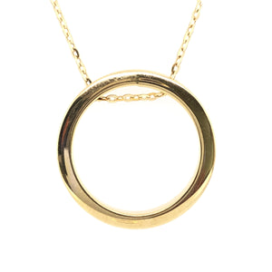9ct Gold Large Circle Necklace